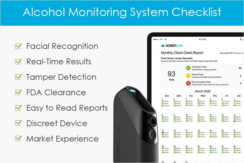 Alcohol Monitoring System Checklist