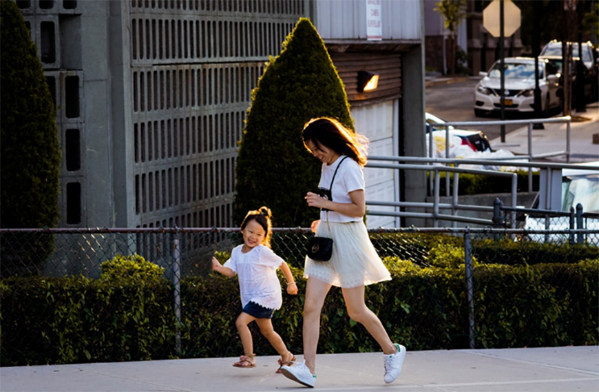 Mother and Daughter Running Activities