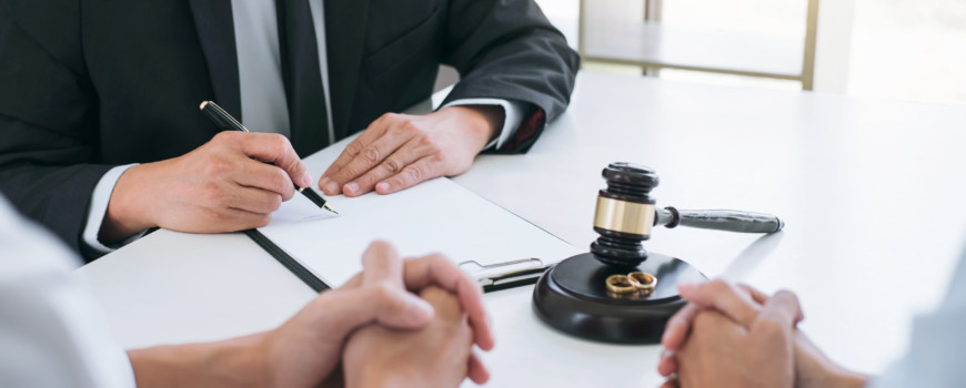 Lawyer Signing Degree of Divorce