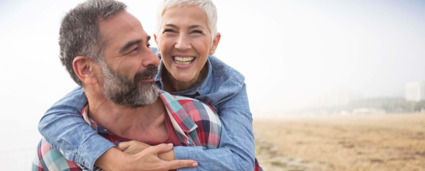 Happy Older Couple after Addiction Recovery