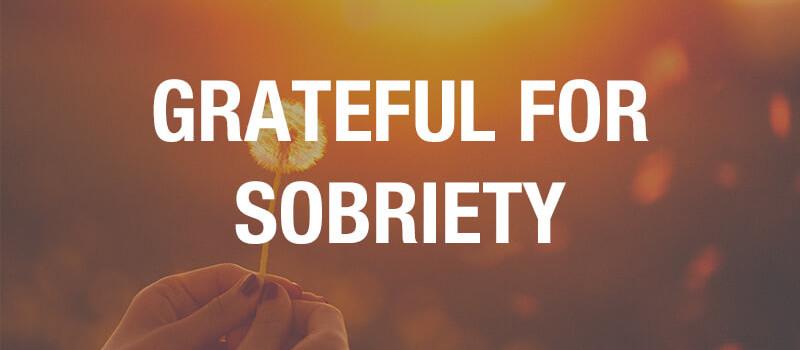 grateful for sobriety
