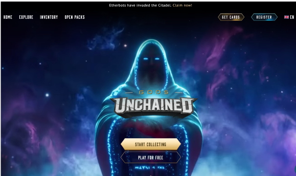 Gods Unchained webpage