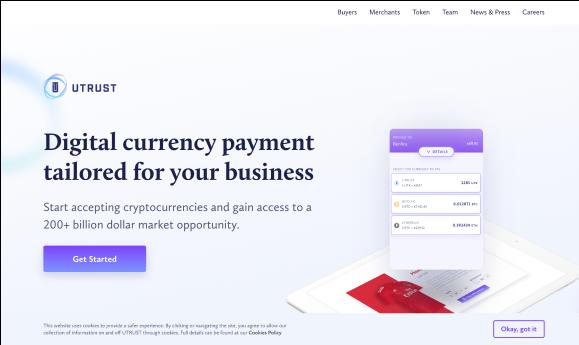 Utrust webpage