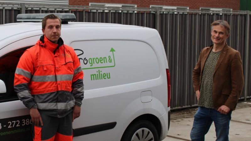 Justin Borst (medewerker Progroen&milieu) en Sigge van der Veek (wethouder gemeente Schagen, voorzitter GRGA).