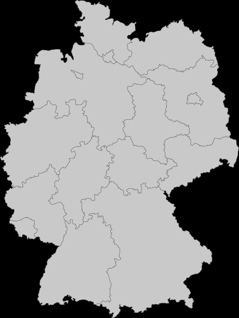 Deutschlandkarte mit allen MSS Security & Cleaning Standorten