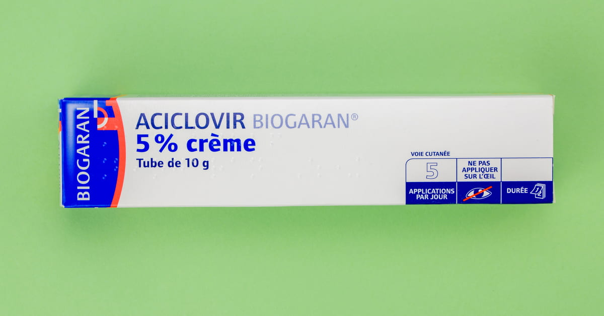 Aciclovir creme 5%, for the treatment of herpes viruses such as Herpetic Whitlow