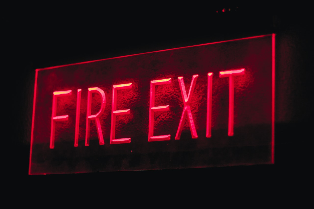 commercial building fire exit electrical safety