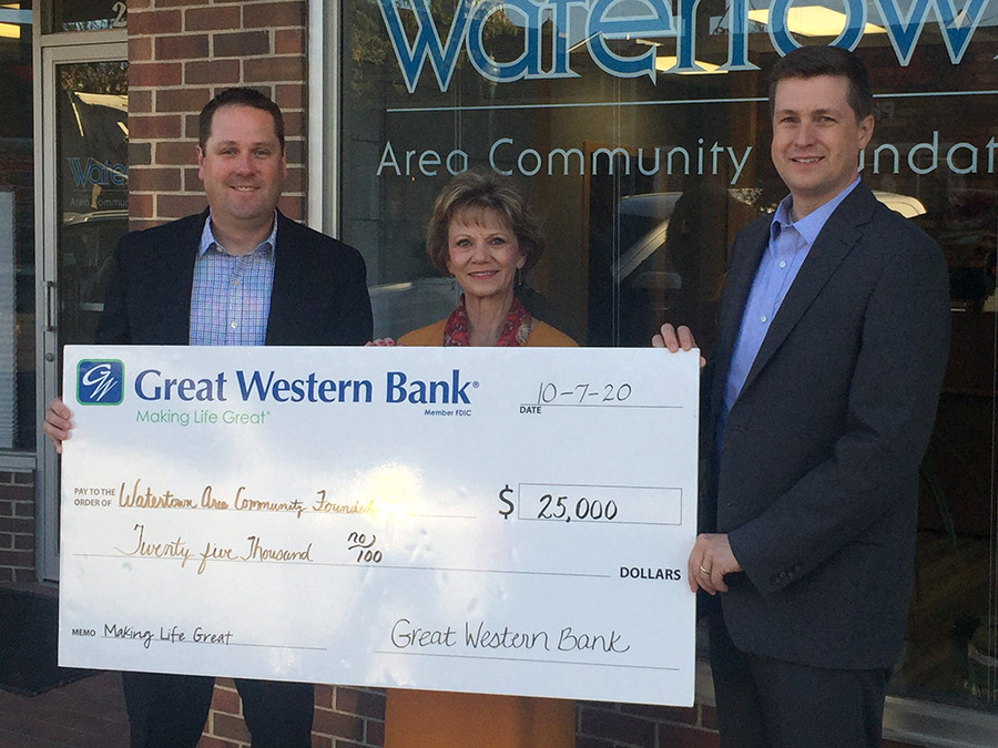 Great Western Bank makes $25,000 Donation