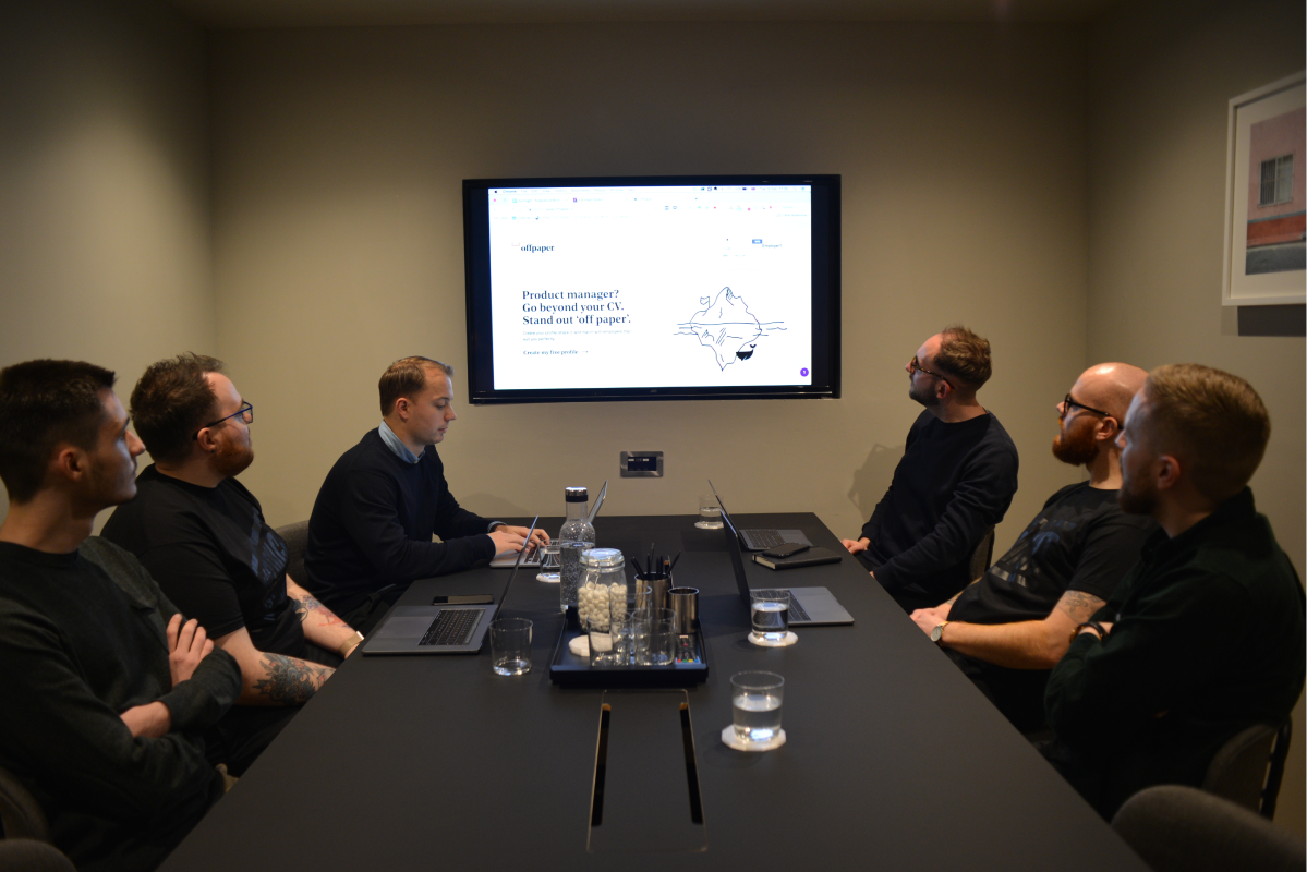 the team in the meeting room
