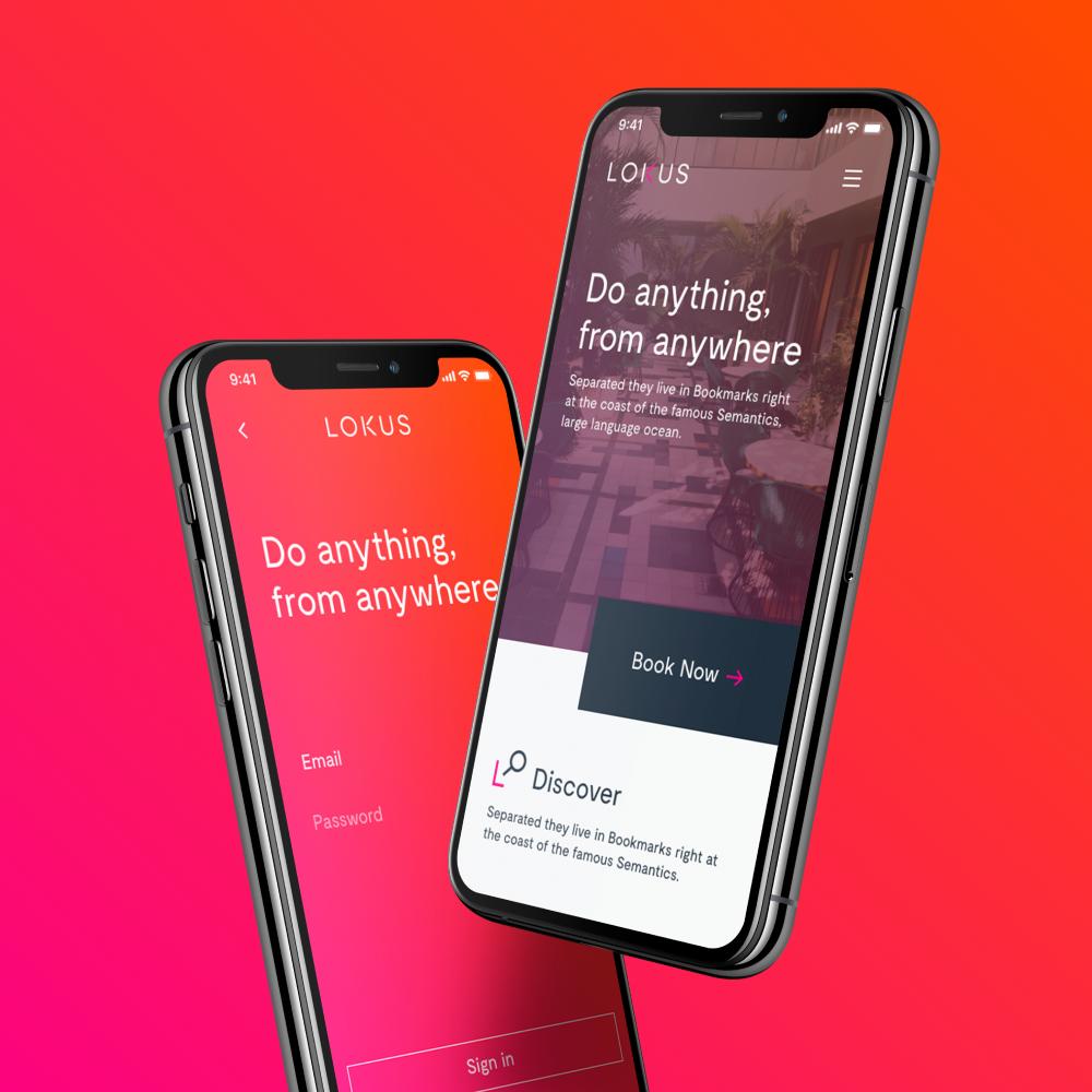 lokus app screen mockups