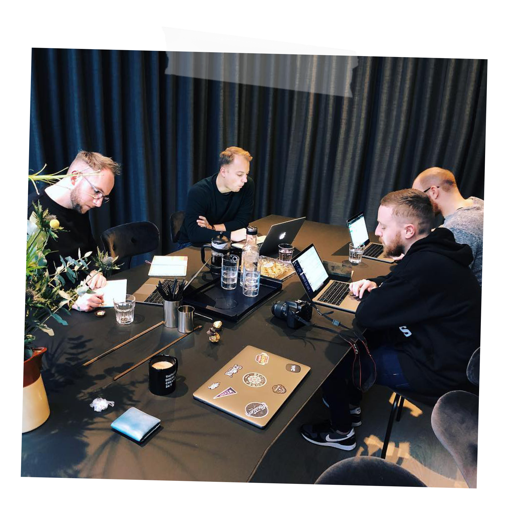 the fortnight studio team at the office