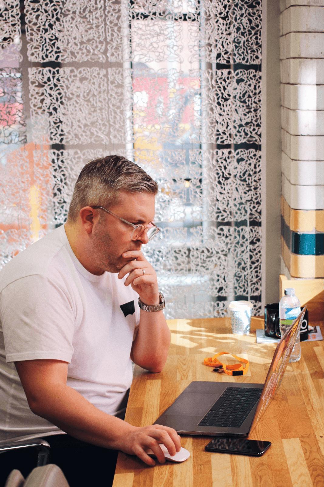 designer on laptop