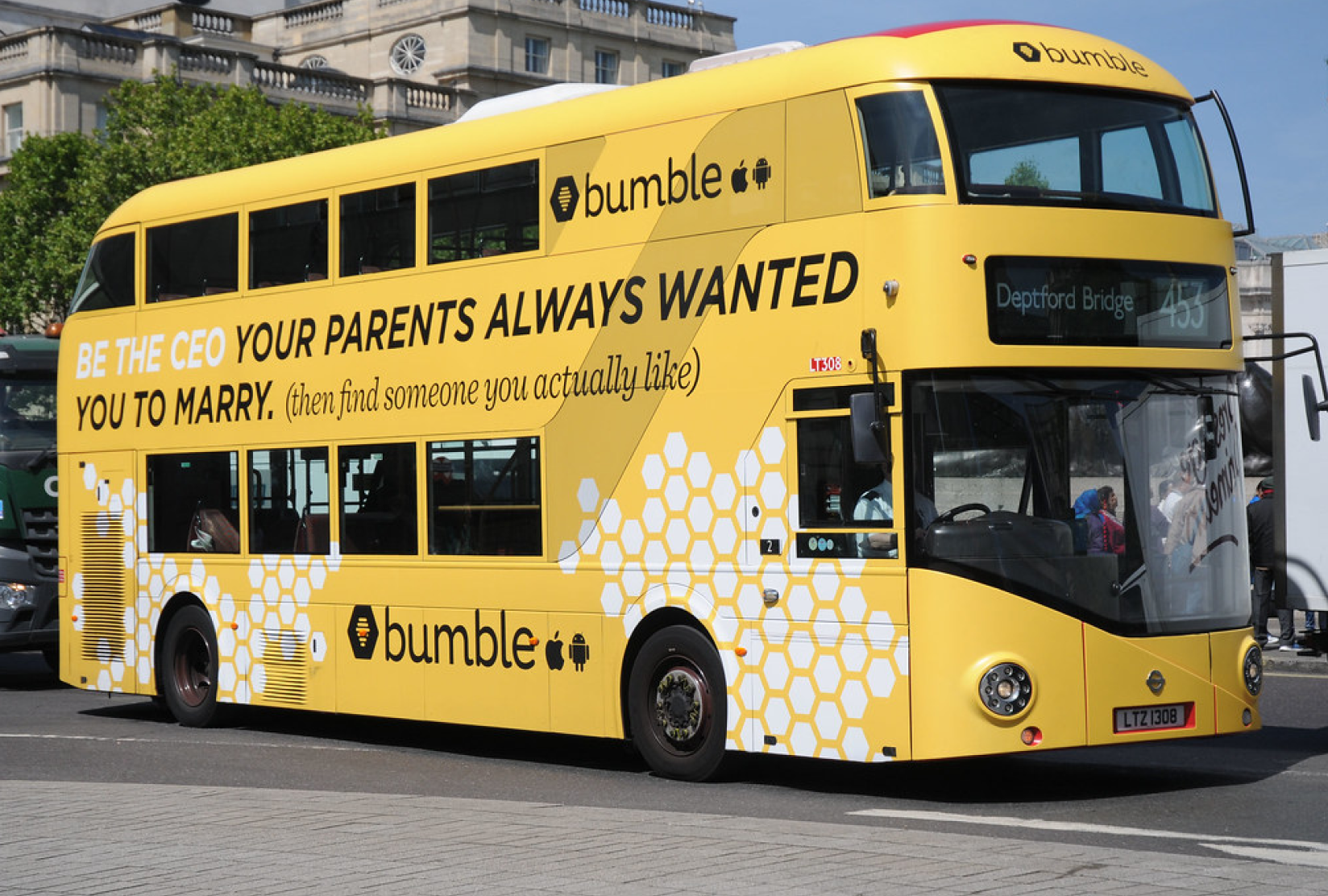 bumble marketing bus campaign