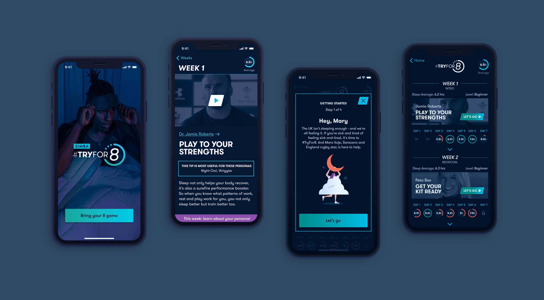 simba sleep app screens