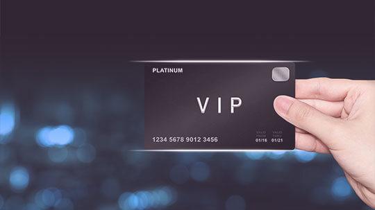 VIP-Karte mit Service.