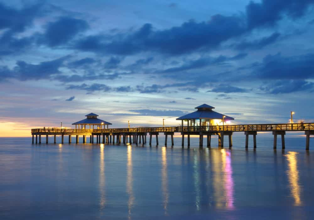 Night time at Ft. Myers, Florida