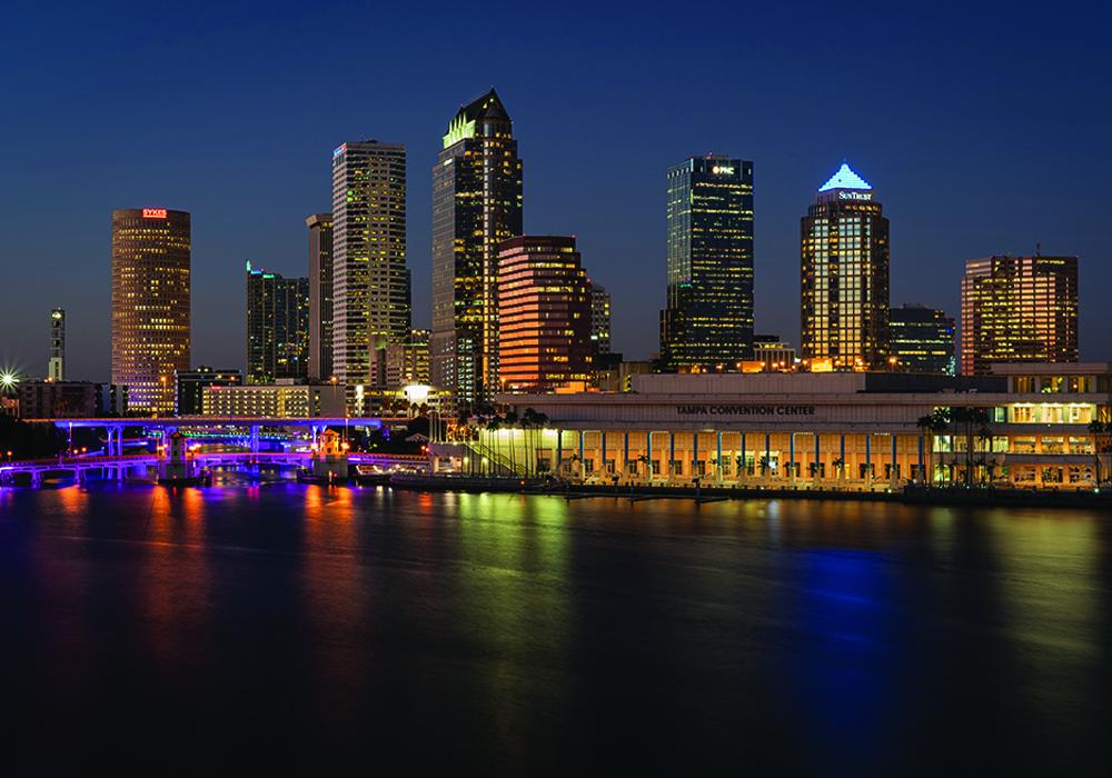 Tampa, Florida night time landscape
