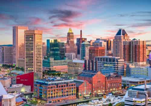 Baltimore, Maryland International Tax Lawyers, city landscape