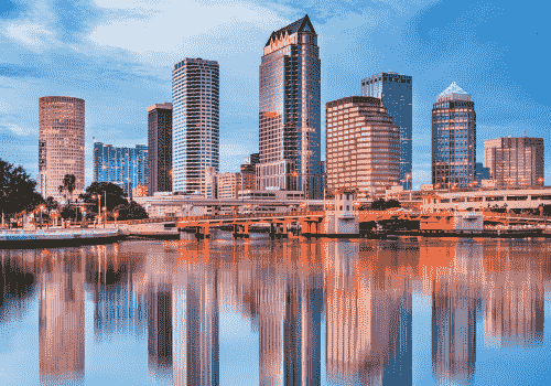 IRS Form 3520 Support In Tampa, Florida, city skyline