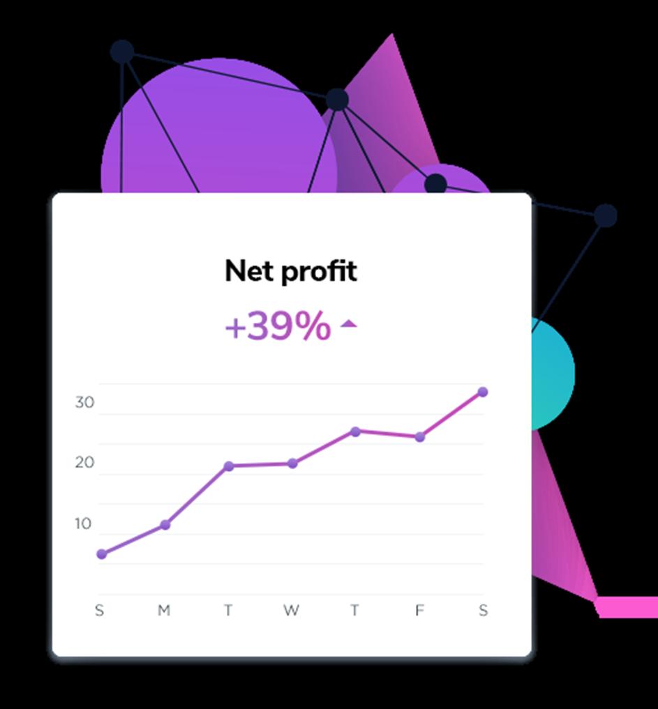 Net profit graph.