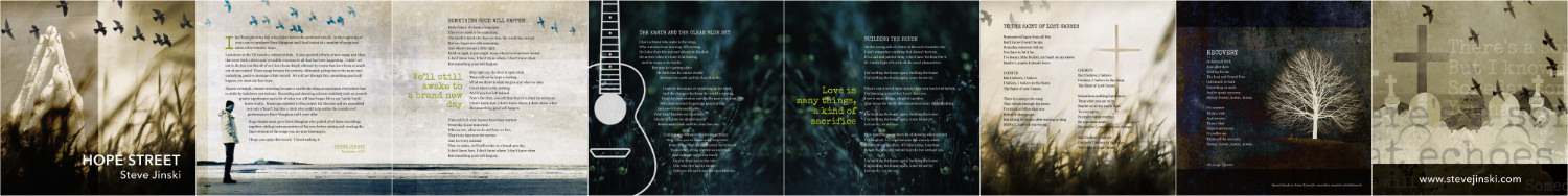 Page spread of the Hope Street lyric booklet