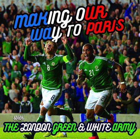 Poster of Irish players celebrating on the pitch