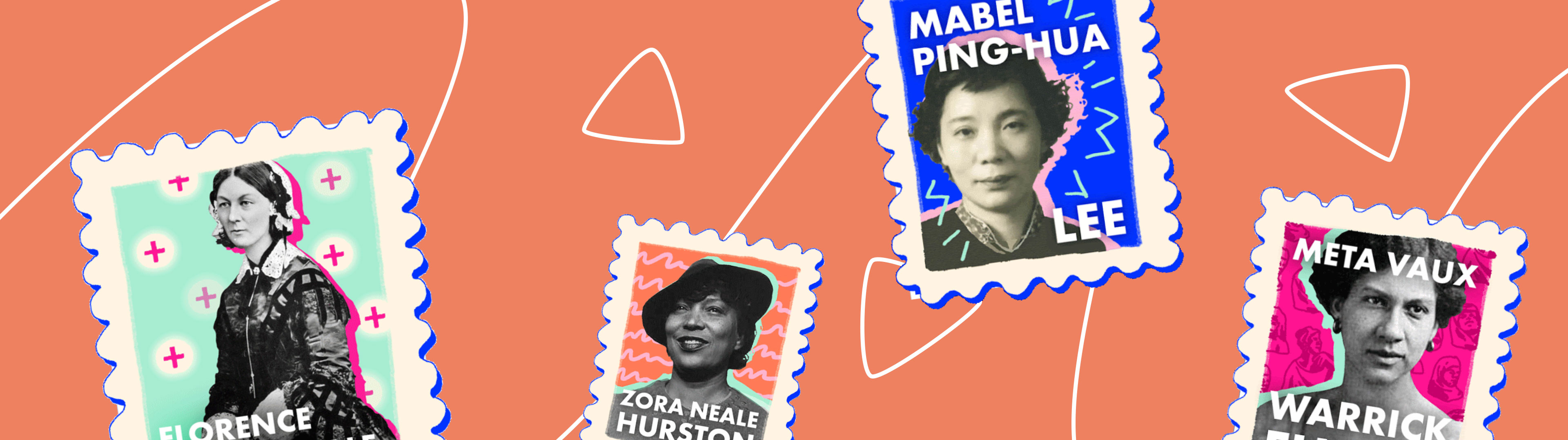 Holler Sticker Content from Women's History Month Campaign