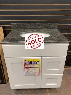 Shaker Style Cabinet Granite Bathroom Vanity Top