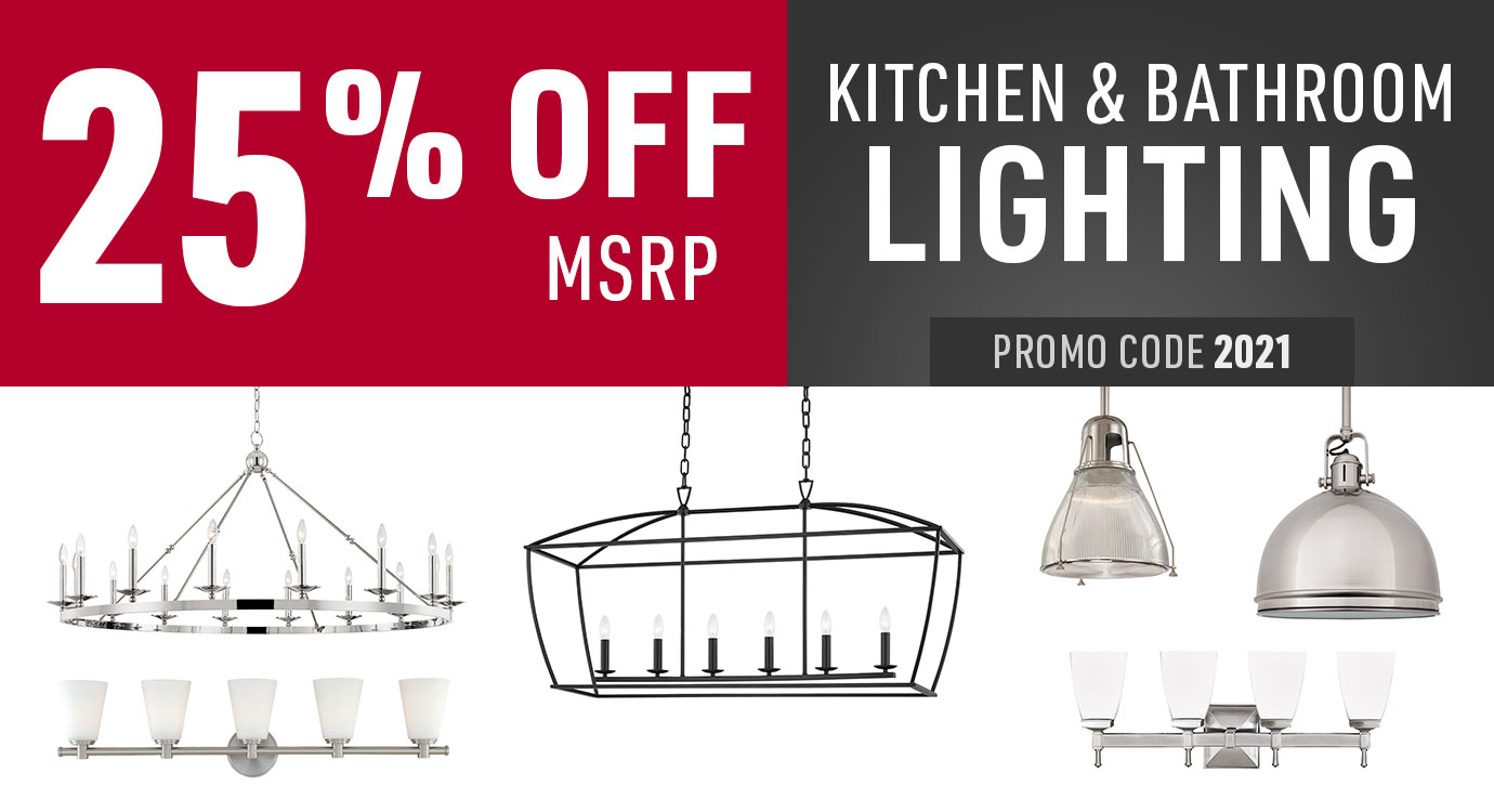 25% off kitchen and bathroom lighting