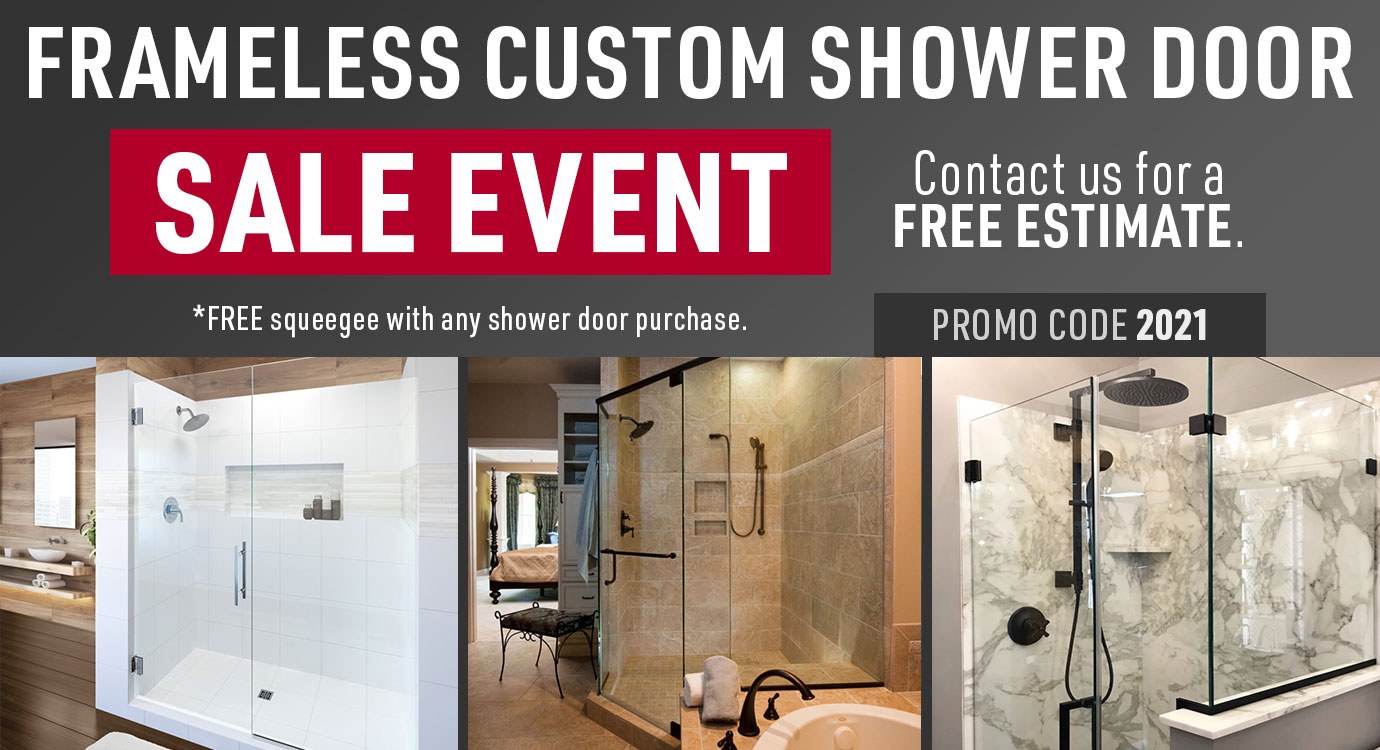 Frameless Custom Shower Door Sale Event