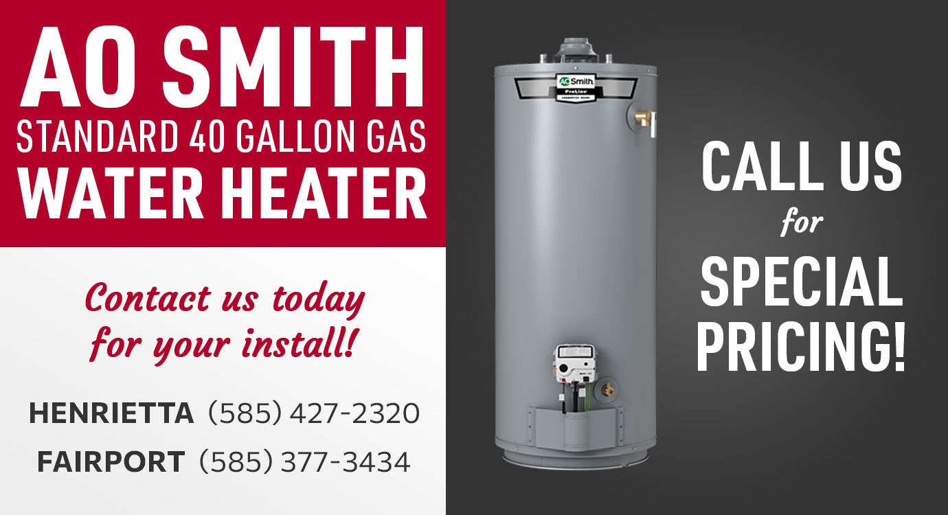 Get an AO Smith 40 Gallon Gas Water Heater