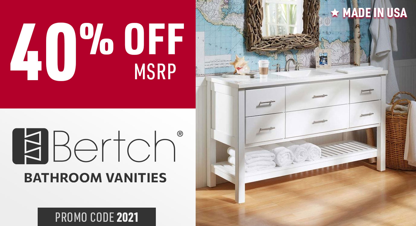 40% off Bertch bathroom vanities