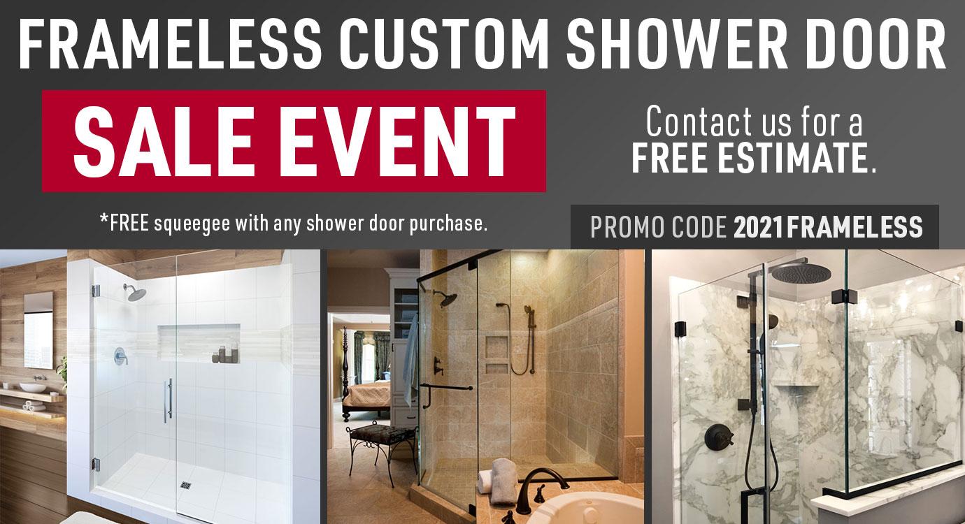 Frameless Custom Shower Door Sale Event