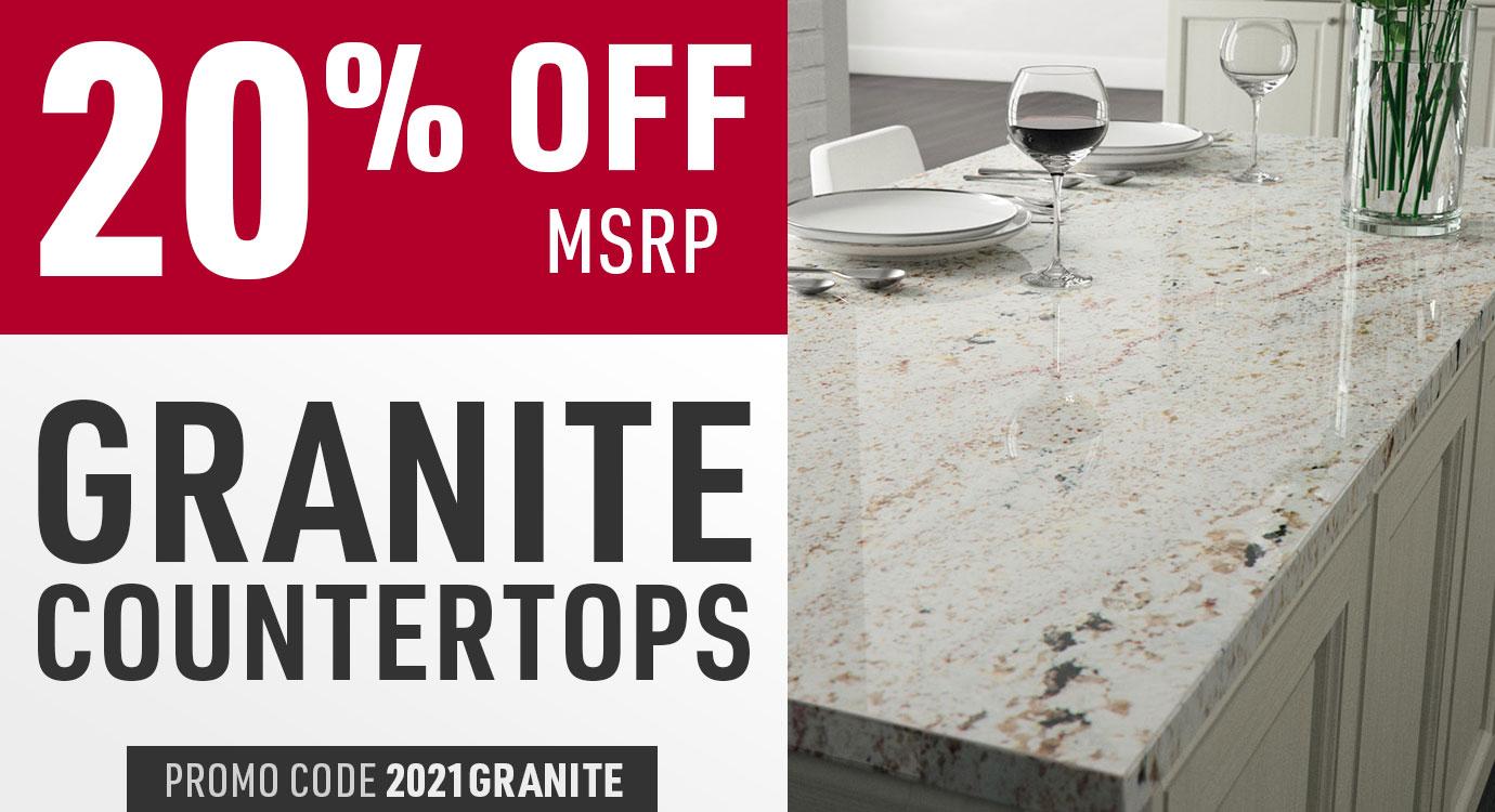 20% off granite countertops