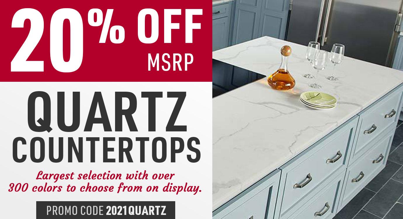 20% off quartz countertops