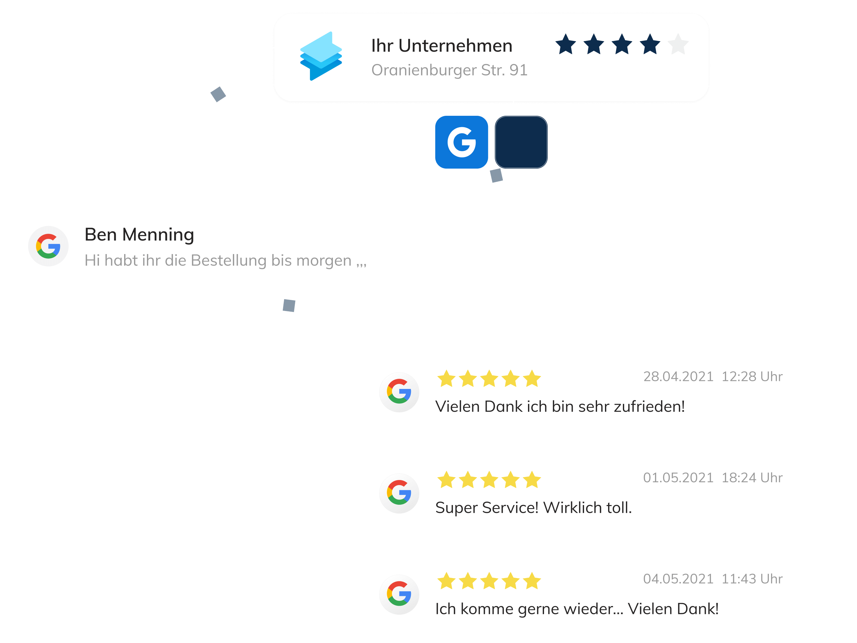 Business Messaging zusammen mit E-Mail und Whatsapp in einem Dashboard