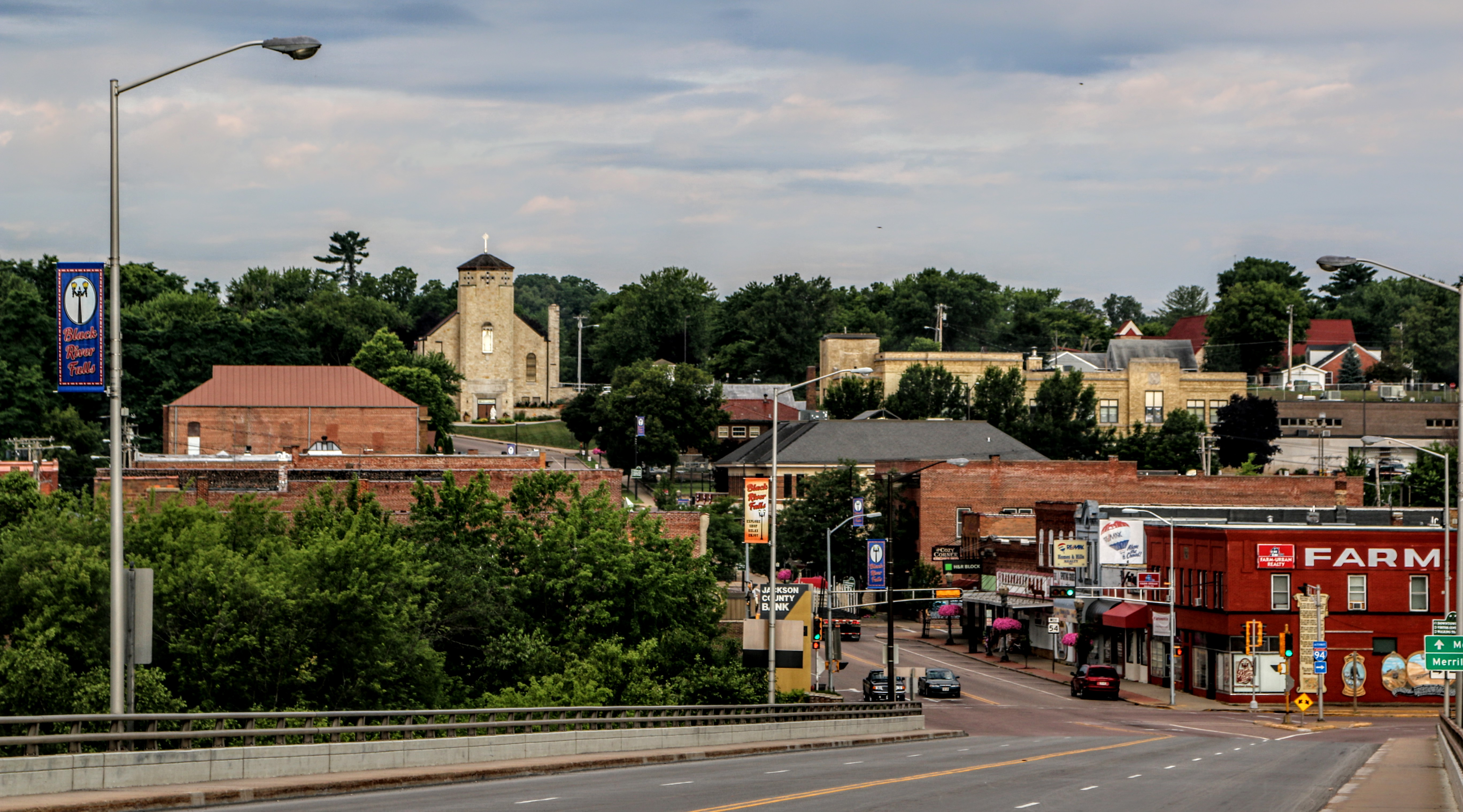 Downtown Black River Falls, Wisconsin