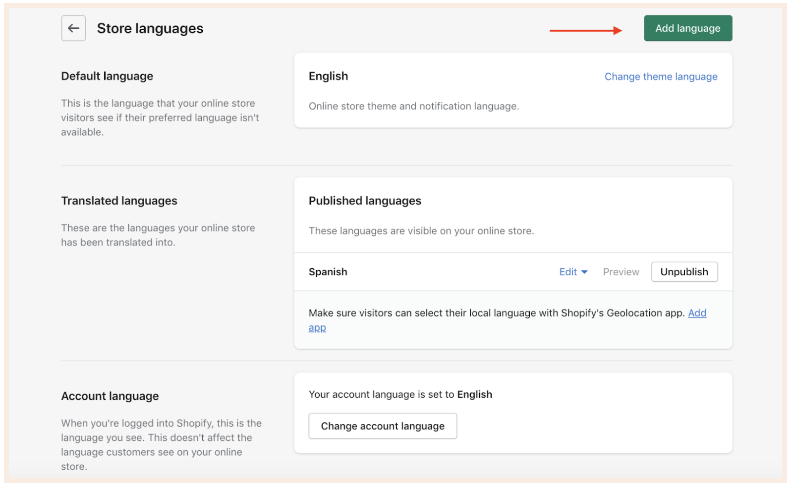 Translate CartHook offer pages into six languages