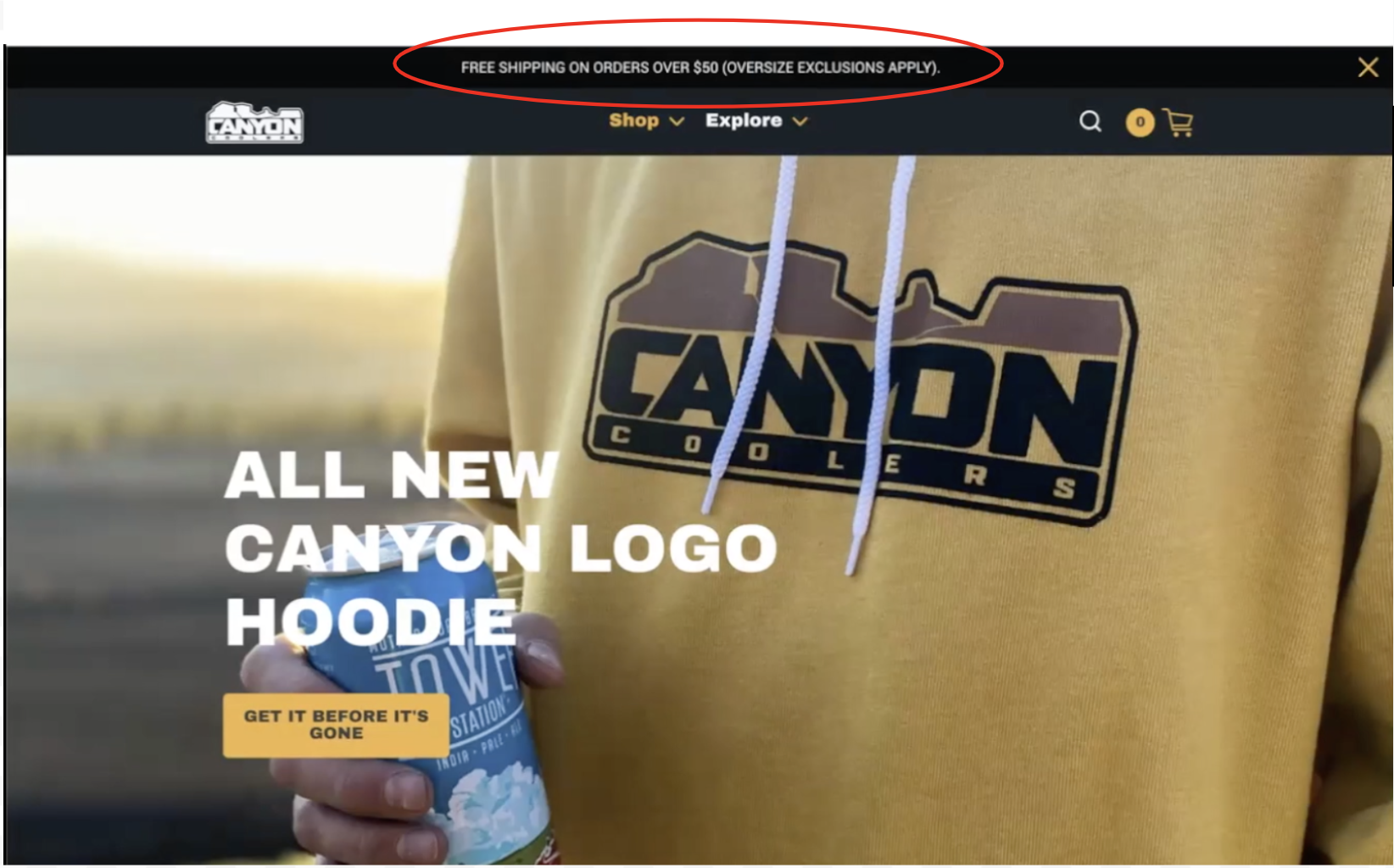 Canyon Cooler Homepage
