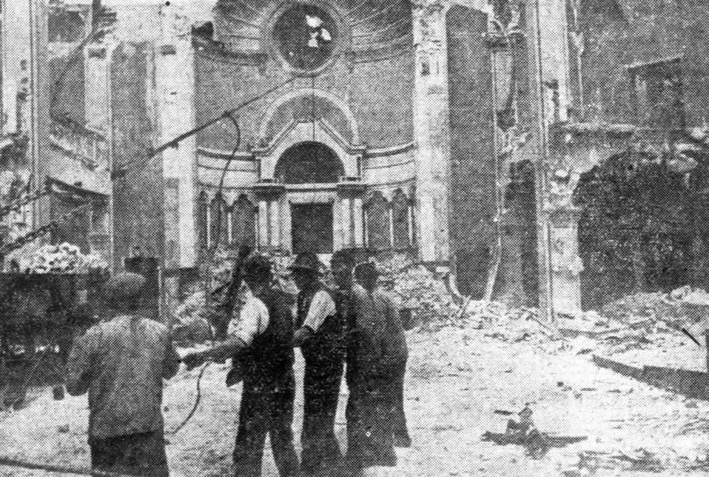Abriss der Bornplatzsynagoge, Copyright Unbekannt