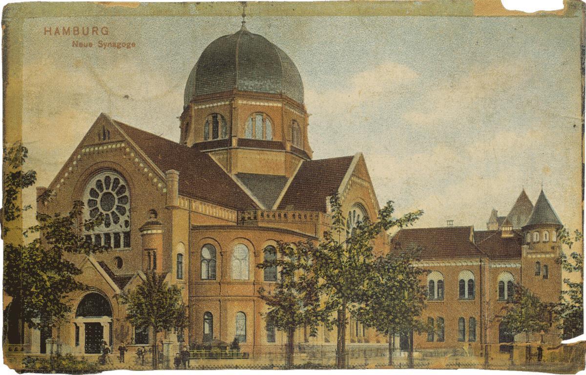 "Bornplatzsynagoge Postkartenmotiv ""Neue Synagoge""  © Unbekannt"