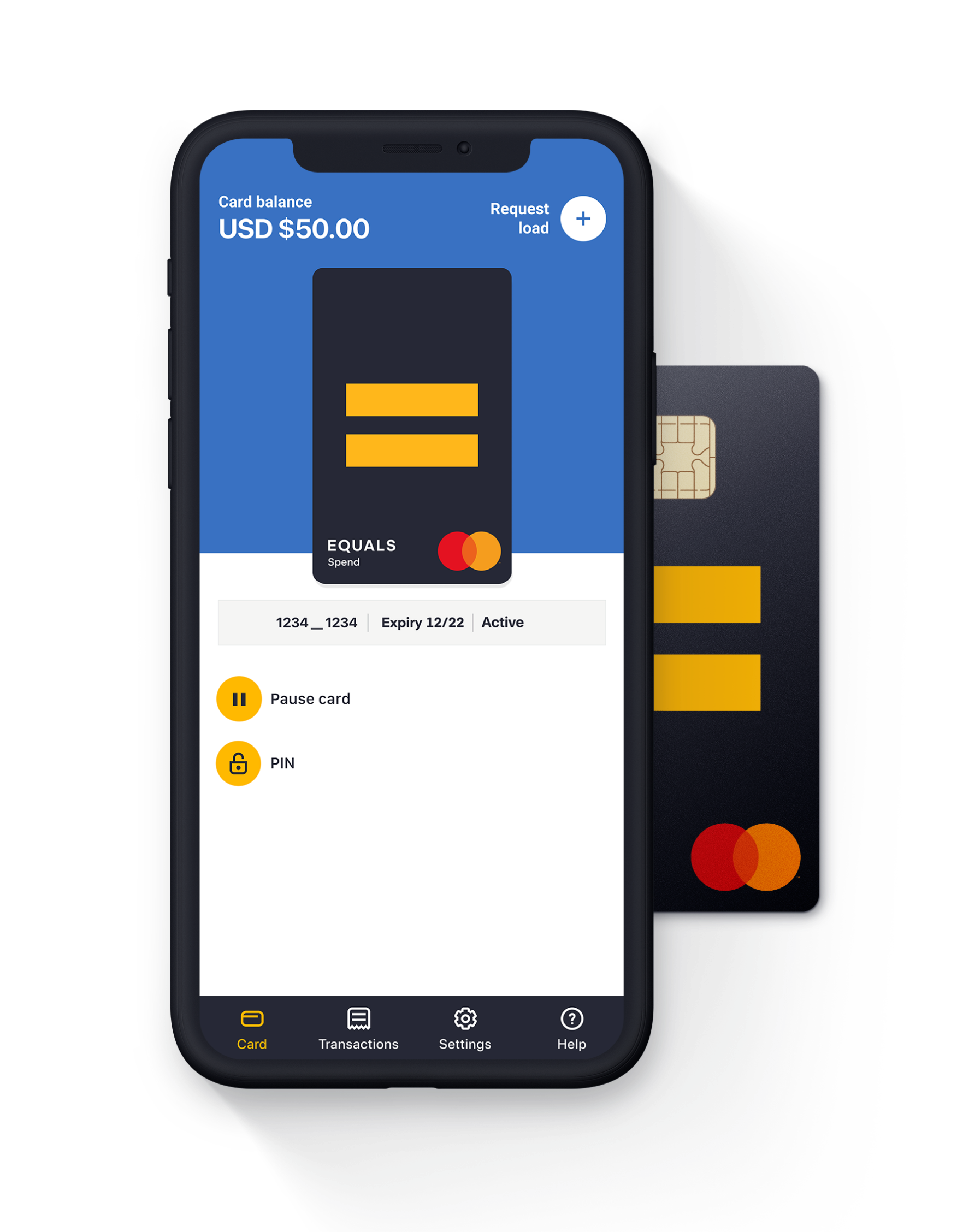 Equals Spend card and app