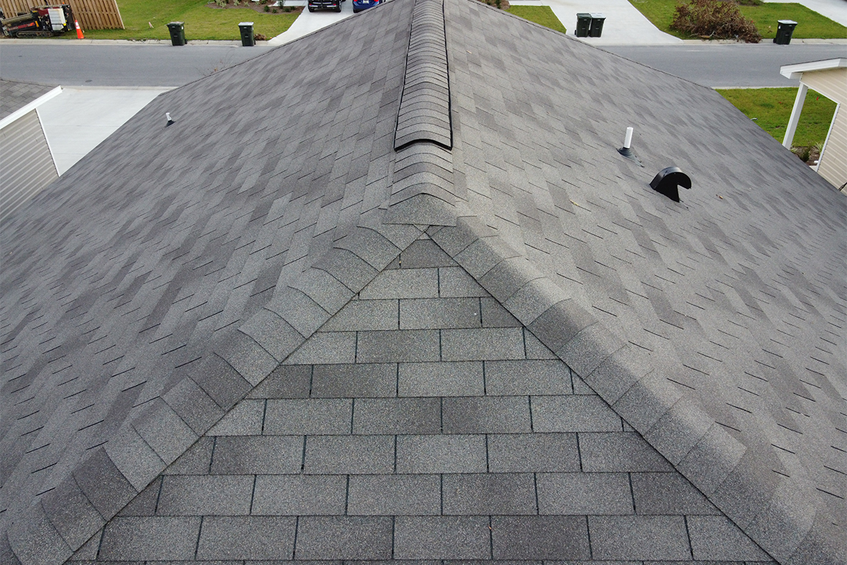 Image of aerial roof inspection