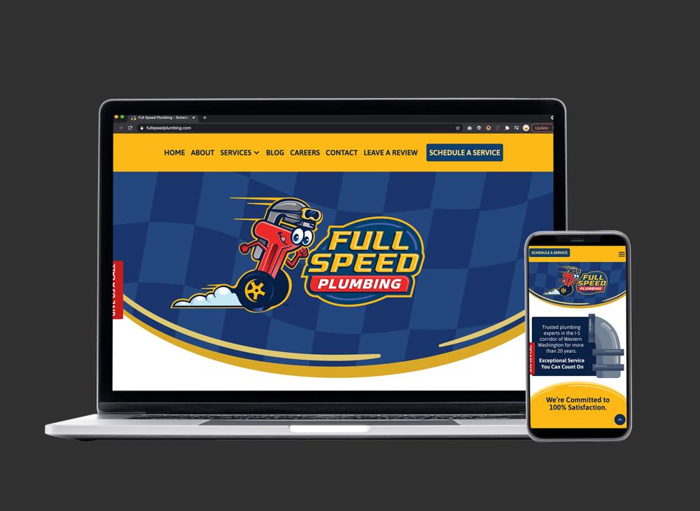 fullspeed plumbing website design