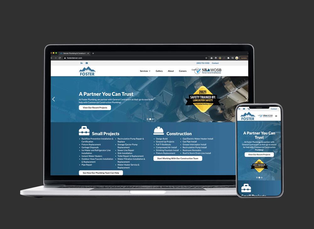 foster plumbing website design