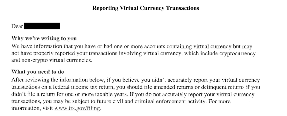 IRS Letter 6174 A