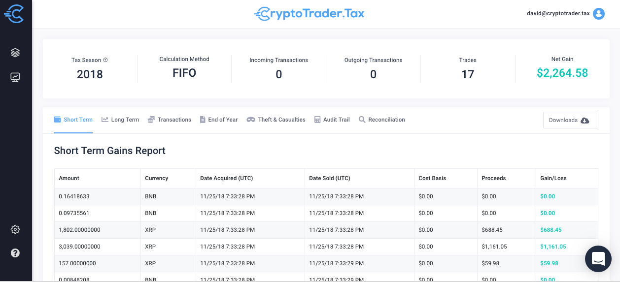 crypto tax reports