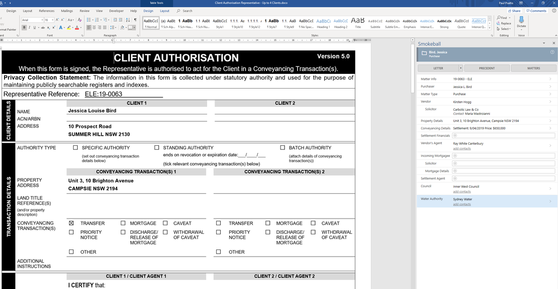 automated f legal forms in word