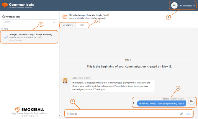 Secure communication platform for lawyers