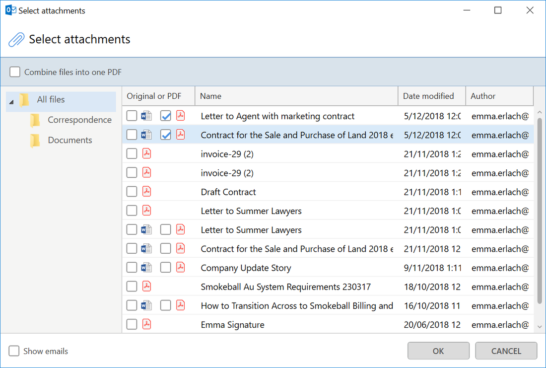 Email management software for lawyers
